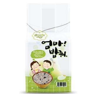 [슈퍼마트] 엄마밥줘 안토시안담은 쌀눈쌀 1kg(9분도쌀눈쌀,5분도찰흑향미)