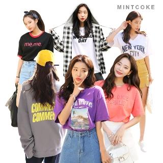 [봄신상전] 민트코크 티셔츠 봄신상 데일리룩 러블리 코디 쇼핑은 스피드 빠를수록 저렴하다