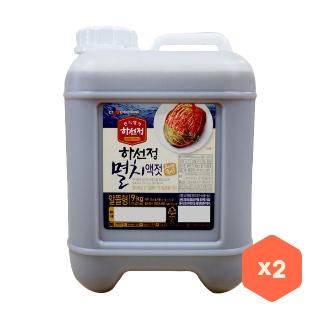 [대용량] 하선정 자연숙성 멸치액젓 X 9kg X 2박스