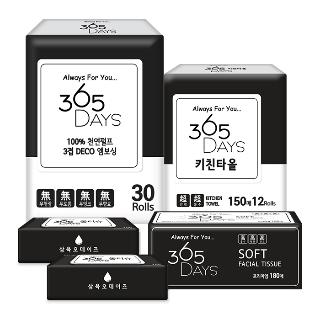 [심야타임] 365 days 화장지 모음전 4종