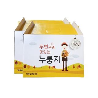 [슈퍼마트] 두번 구워 맛있는 누룽지 120g (10,20 봉지 선물 포장 박스)