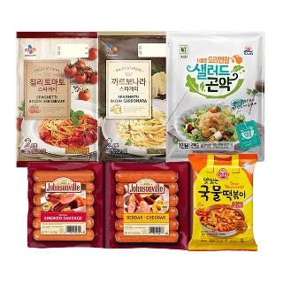 [슈퍼마트] CJ 칠리 토마토 스파게티 2인분 640g 외 11종