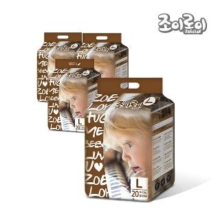 [조이로이] 허그 팬티형 기저귀 대형 20매 4팩