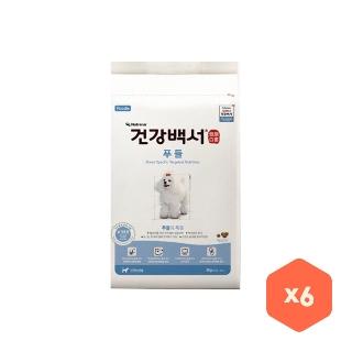 [대용량] 건강백서 푸들 2kg X6개X1박스