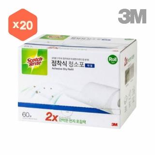 [슈퍼마트] 3M 표준형 점착식 청소포 60+20매