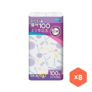 [대용량] 참그루 퓨어100 키친타올 150매*4+4롤 X 9팩