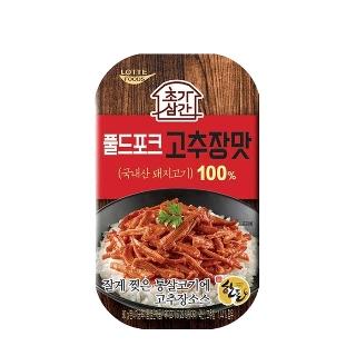 [슈퍼마트] 롯데 초가삼간 풀드포크 고추장맛 80g 1입/3입
