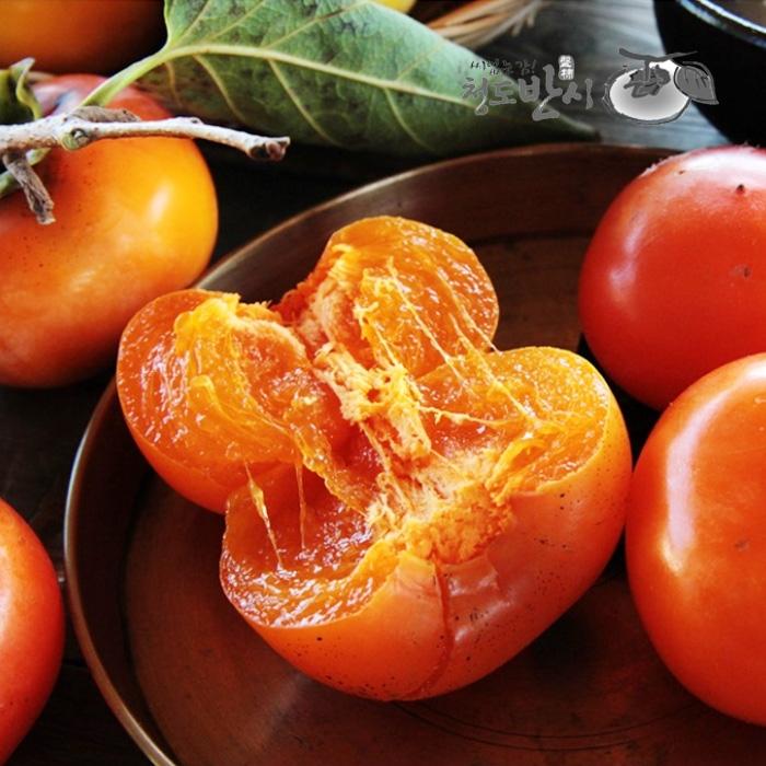[효성팜] 씨없는 감 꿀맛 청도반시 10kg 100과이상/홍시용