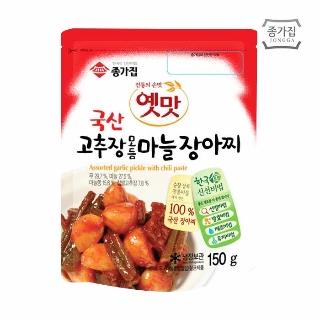 [슈퍼마트] 종가집 옛맛 고추장 모듬마늘 장아찌 150g