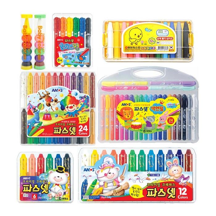 [아모스] 파스넷 크레파스 색연필 전품목 기획전
