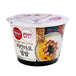 [컵반] CJ 햇반 컵반 치킨마요 덮밥 233g