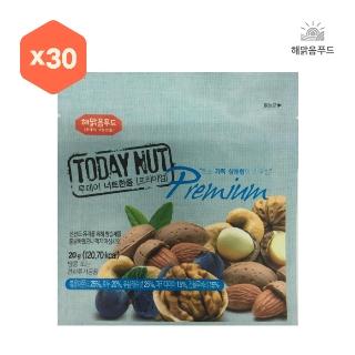 [슈퍼마트] 투데이넛 너트한줌 프리미엄 20g x 30봉 (소박스 1BOX)