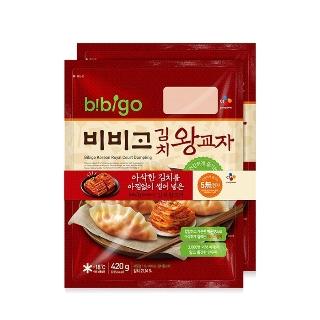 [슈퍼마트] CJ 비비고 김치왕교자 420gx2입 1+1