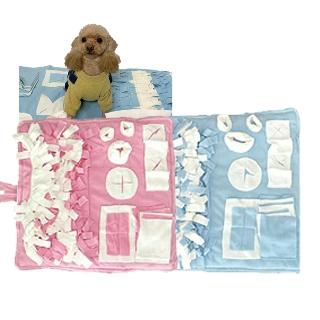 [티몬균일가] 강아지 노즈워크 담요 중형 핑크