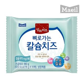 [슈퍼마트] 매일 상하치즈 뼈로가는 칼슘치즈 270g(18g*15매)