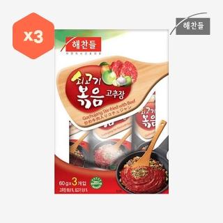 [슈퍼마트] CJ해찬들쇠고기볶음고추장 60gX3입