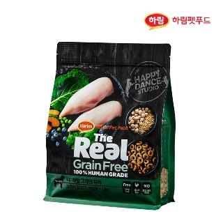 [슈퍼마트] 더리얼 그레인프리 크런치 닭고기 어덜트 1kg